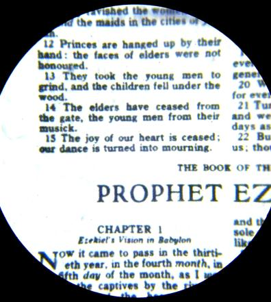 Bible Higher Magnification