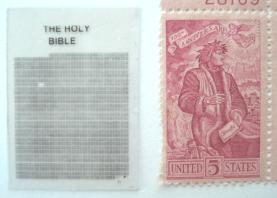 Bible and Stamp