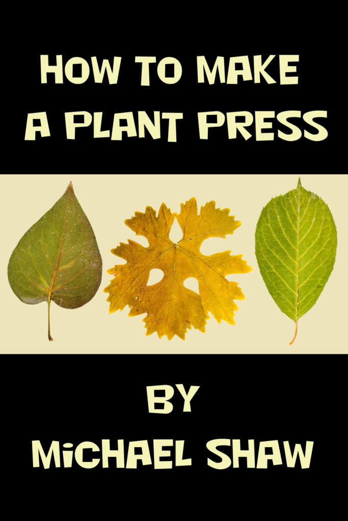 How to Make a Plant Press
